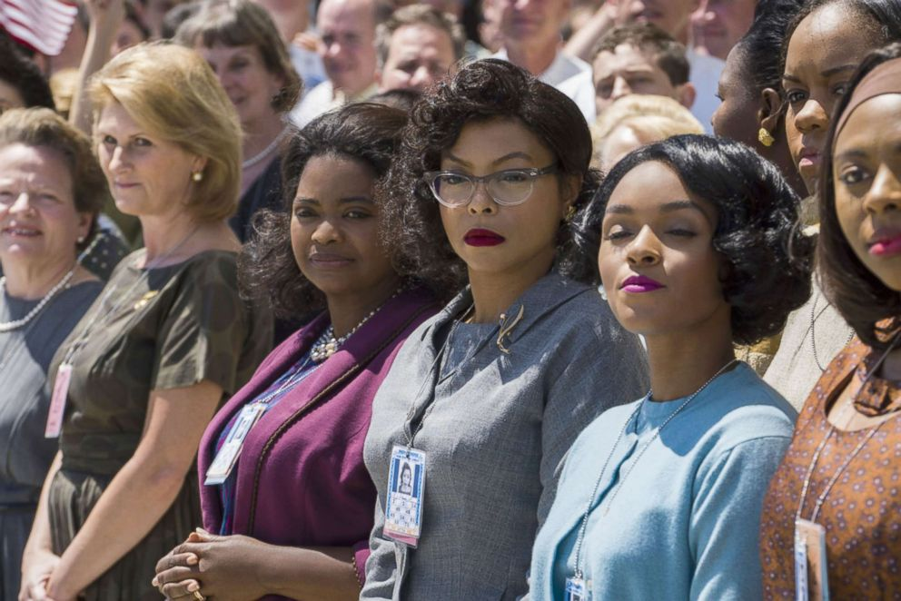 PHOTO: Octavia Spencer, Taraji P Henson and Janelle Monae in a scene from Hidden Figures.