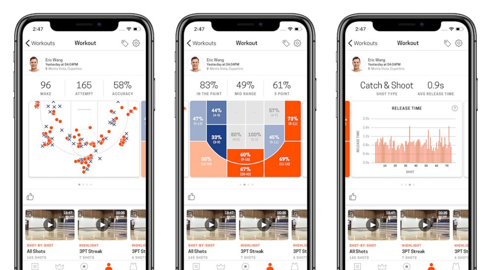 The Home Court Basketball App is pictured here.