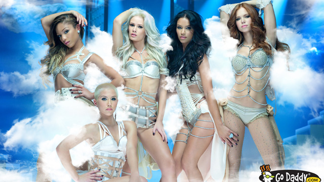 "PHOTO: Go Daddy features The Pussycat Dolls in one of two Super Bowl XLVI ads, called ""Cloud."""