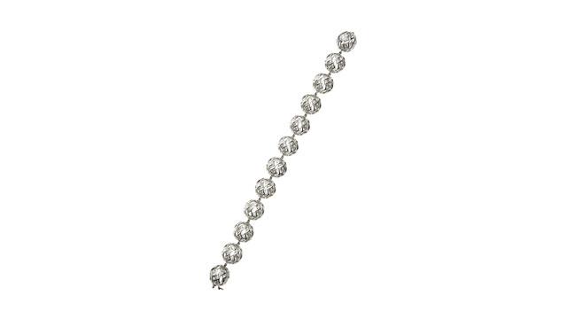 PHOTO: De Beers Sphere Cutout Diamond Shaped Bracelet