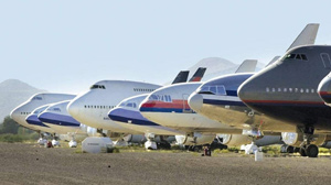 Grounded planes in desert might affect airfare