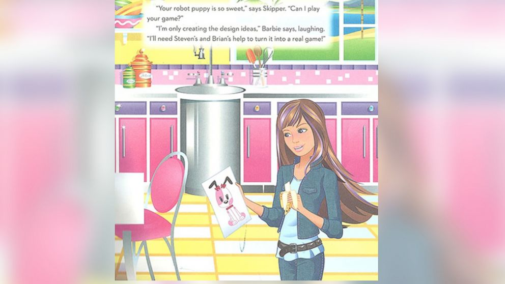 "A page from the book, ""Barbie I Can Be A Computer Engineer""."