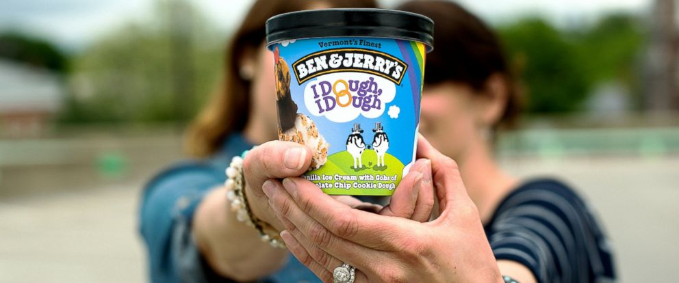 PHOTO: Chocolate Chip Cookie Dough has been renamed to I Dough, I Dough in participating Ben & Jerrys Scoop Shops.