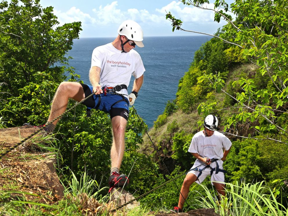 PHOTO: The BodyHoliday in St. Lucia offers a quadrathlon to guests, which includes rappelling, as seen in this undated handout image.