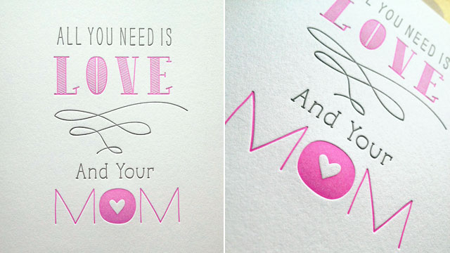 PHOTO: Mother's Day card