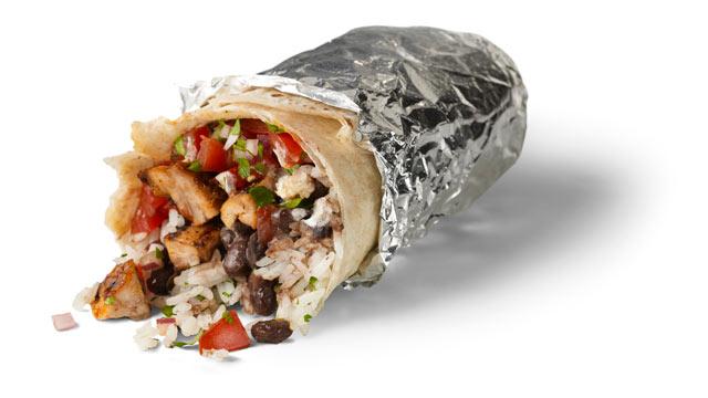 PHOTO:A Chipotle chicken burrito.