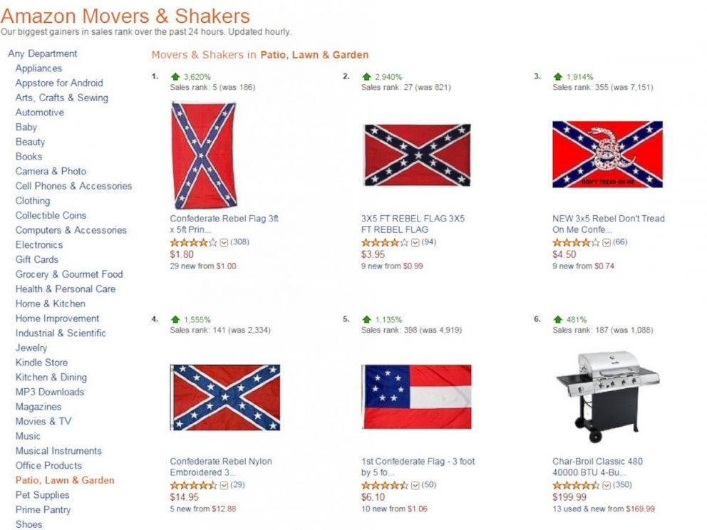 amazon etsy to ban confederate flag merchandise joining walmart