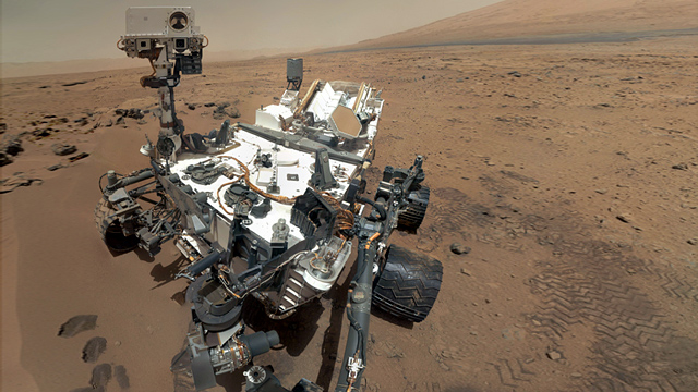 PHOTO: On Mars, the rover Curiosity continues to explore the surface of the planet for signs of life.