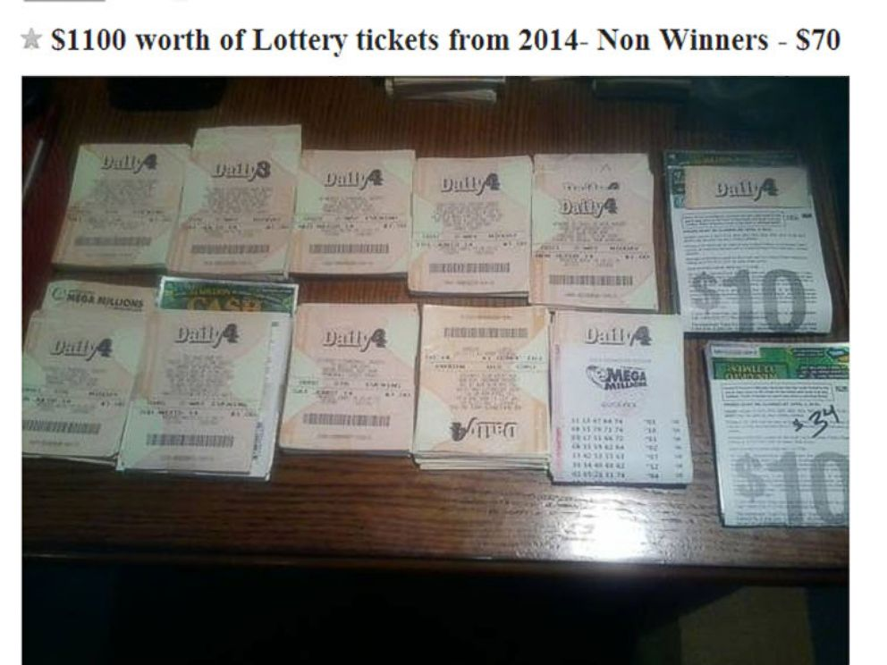 PHOTO: An ad posted to Craigslist in Detroit selling losing lottery tickets.