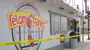PHOTO: Felony Franks fast food in Chicago