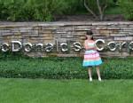 PHOTO: Hannah Robertson on the McDonalds corporate headquarters.