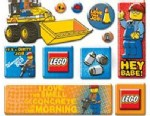 """PHOTO: Parents have complained about stickers from LEGO featuring a construction worker saying """"Hey Babe!"""""""