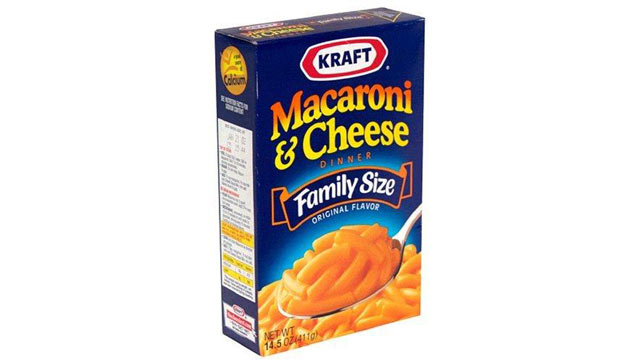PHOTO: Kraft Mac n' Cheese contains Yellow 5 and Yellow 6.