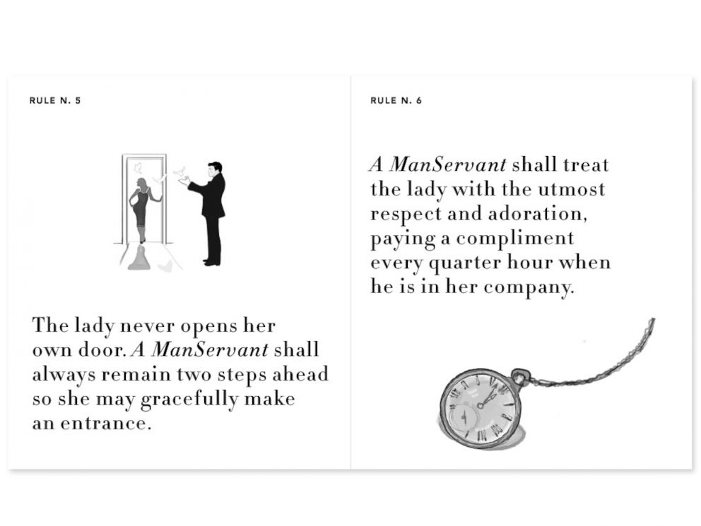 PHOTO: The ManServants.co website displays a list of rules that they say is tattooed on every ManServants heart.