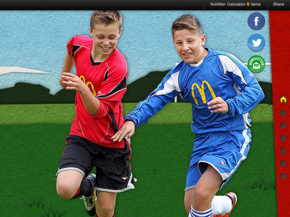 PHOTO: The McDonalds UK website has a football section.