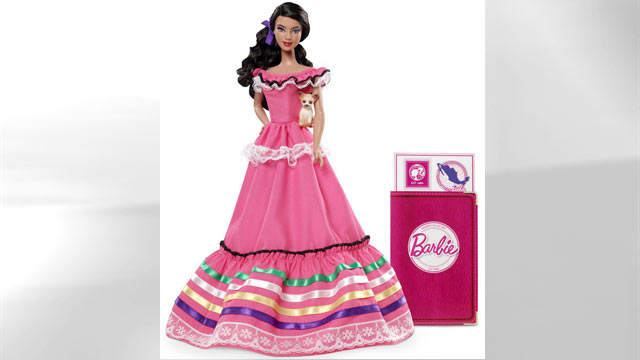 "PHOTO: Mattel is now selling ""Mexican Barbie"" which comes complete with her own passport and documentation."