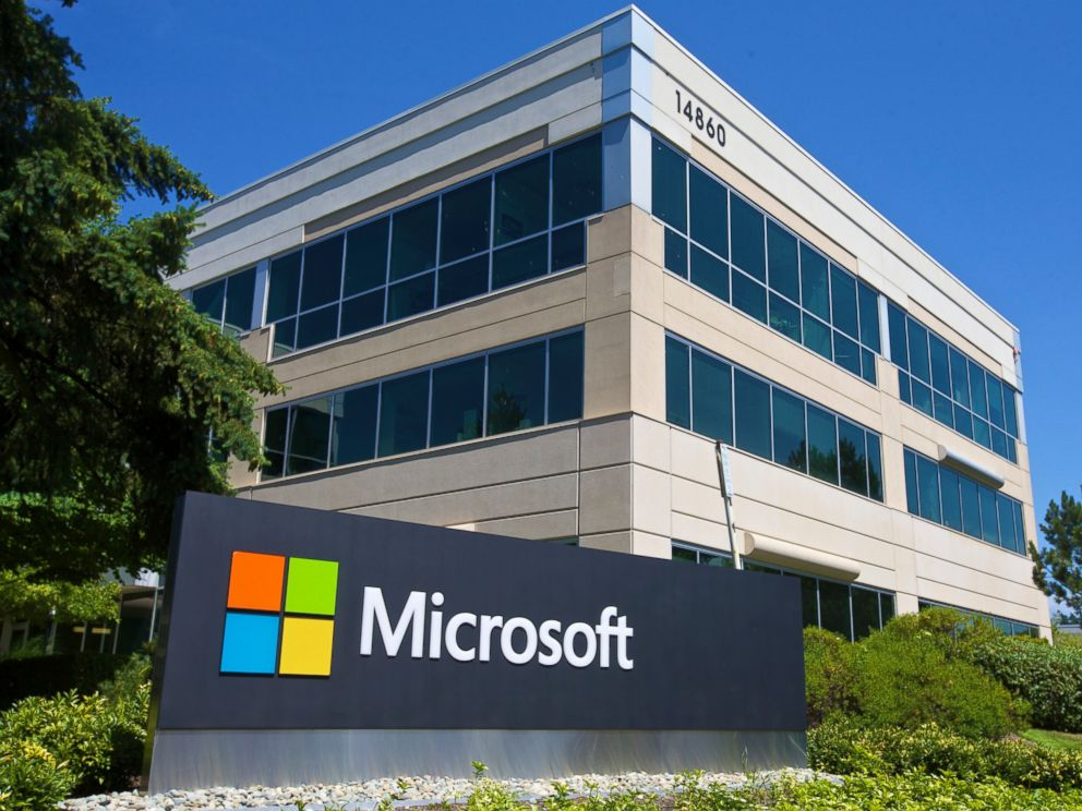 PHOTO: A building on the Microsoft Headquarters campus is pictured July 17, 2014 in Redmond, Washington.