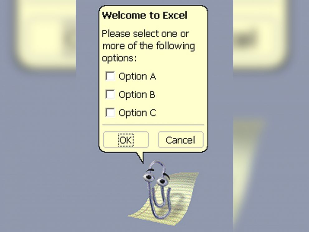 PHOTO: Microsofts Clippy was an animated helper agent that was intended to help users with their Office products.