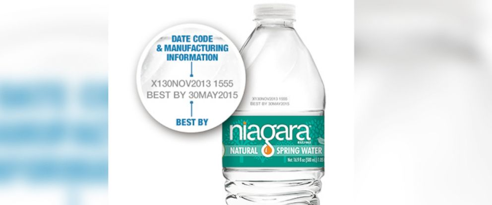 PHOTO: Niagara Water voluntary recalls spring water produced in two of their Pennsylvania plants from June 10-18th, 2015.