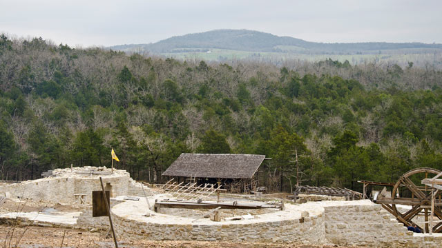 PHOTO: The Ozark Medieval Fortress, March 2011.