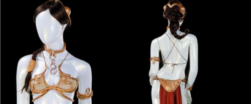 """PHOTO: Princess Leias metal bikini from """"Return on the Jedi"""" will available for bidding at an upcoming Profiles in History auction."""