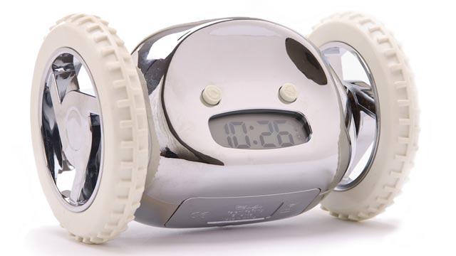 PHOTO: Clocky, the rolling alarm clock.