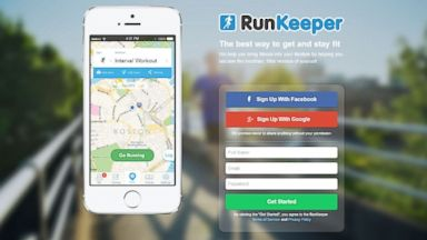 PHOTO: A view of the website RunKeeper.com.