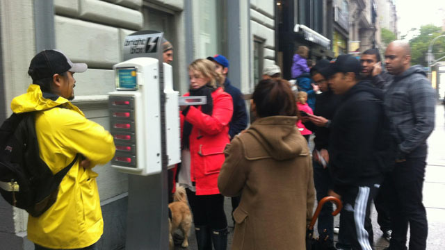PHOTO: Brightbox is providing free charging stations to New York City residents.