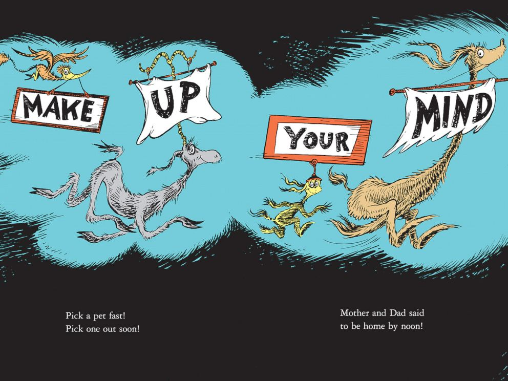 PHOTO: The inside of a previously unknown Dr. Seuss book titled, What Pet Should I Get?