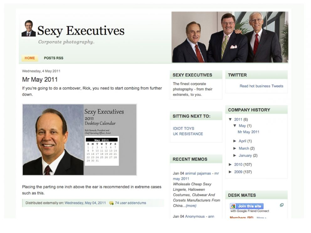 PHOTO: The Sexyexces Blog homepage