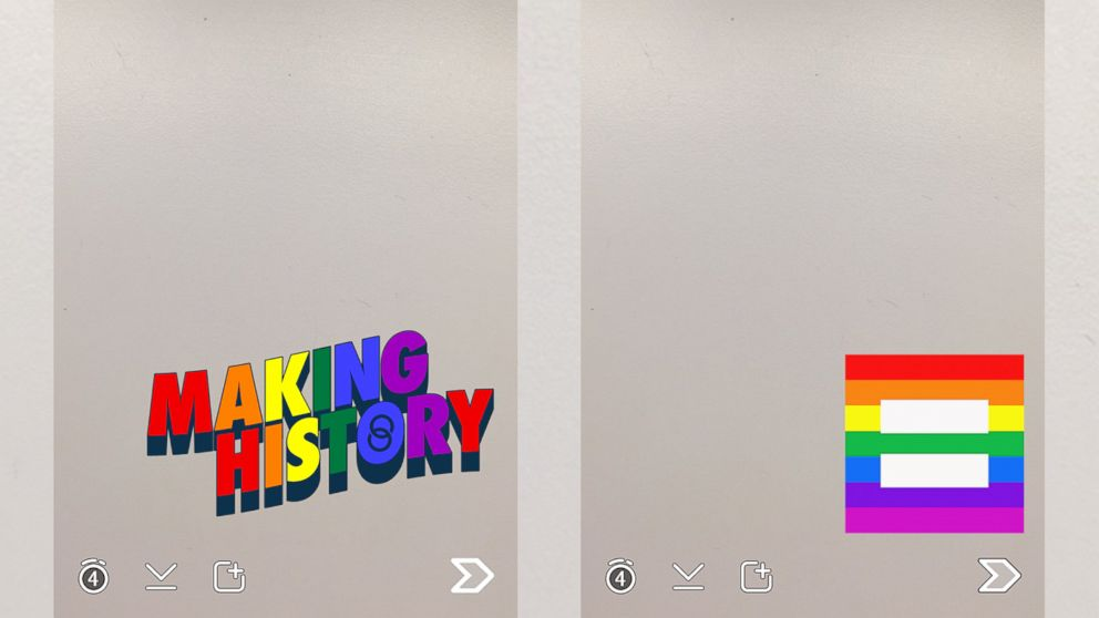 Snapchat is offering two filters with rainbow themes to celebrate the Supreme Court?s decision.