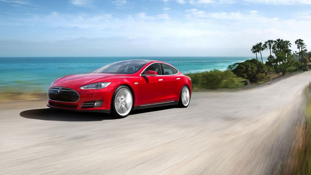 Pictured is a Tesla Model S.