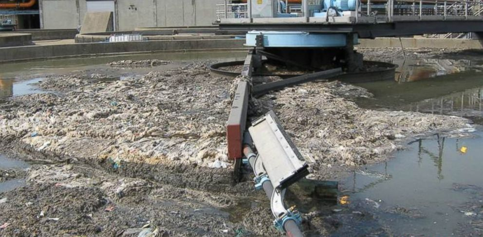 PHOTO: Flushable wipes have caused problems in New York City wastewater treatment plants.