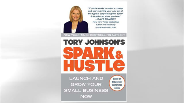 "PHOTO: Tory Johnsons book, ""Spark and Hustle"" is seen here."