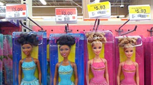 Walmart priced a dark-skinned Barbie cheaper than a light-skinned Barbie.