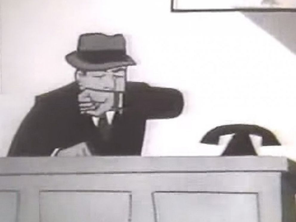 PHOTO: Dick Tracy is seen in this 1960s era commercial for a two-way radio toy in a grab from this clip posted to YouTube.