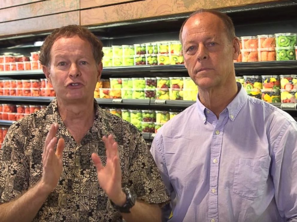 PHOTO: Walter Robb, right, and John Mackey, left, are pictured in this video uploaded to Whole Foods YouTube channel.