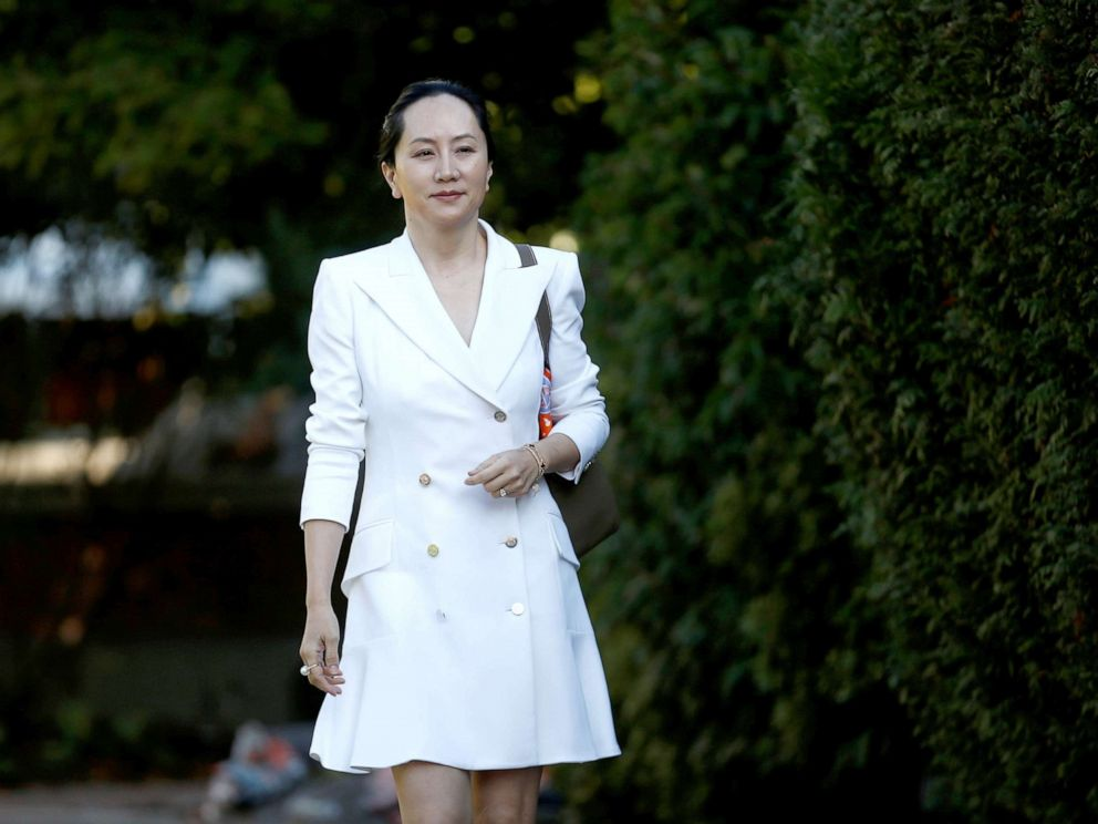 PHOTO: Huawei Technologies Chief Financial Officer Meng Wanzhou leaves her home to appear in British Columbia supreme court for a hearing, in Vancouver, British Columbia, Canada, Sept. 30, 2019.