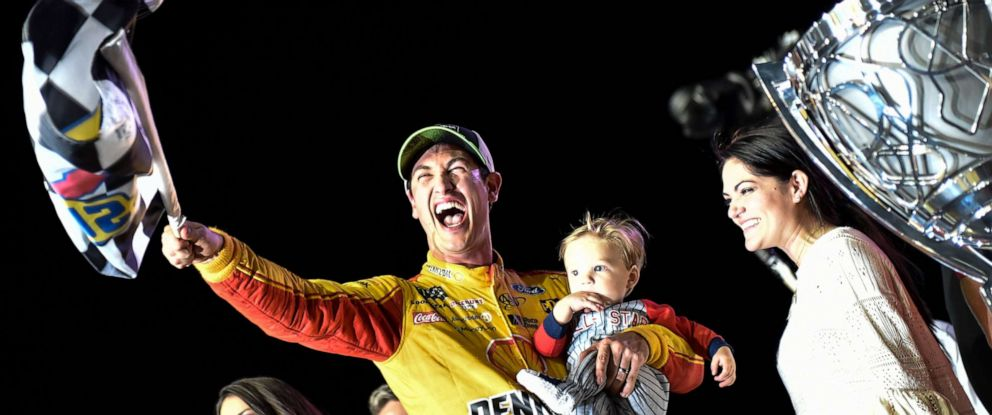 PHOTO: Joey Logano won his first NASCAR series championship on Nov. 18, 2018, at Homestead-Miami Speedway in Florida.