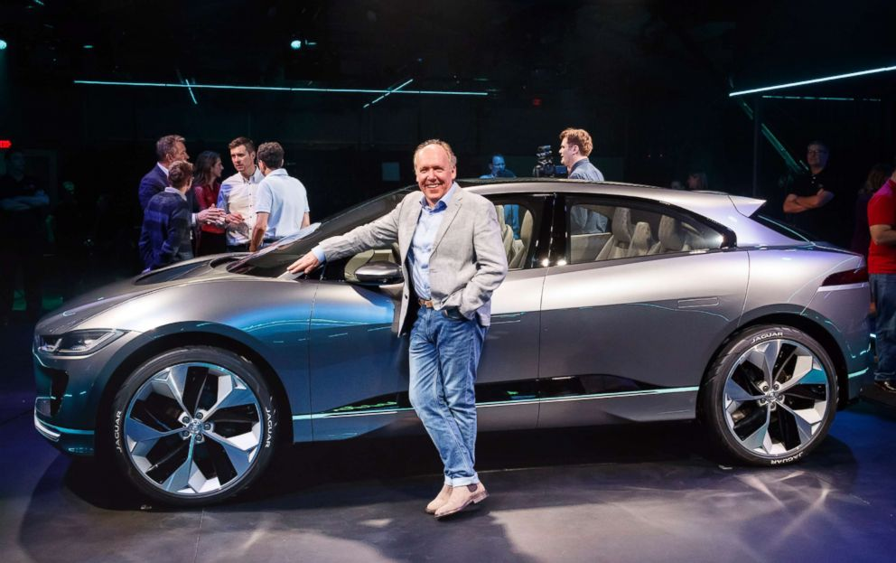 PHOTO: Ian Callum, Jaguars director of design, standing next to the I-PACE concept at the 2016 Los Angeles auto show.