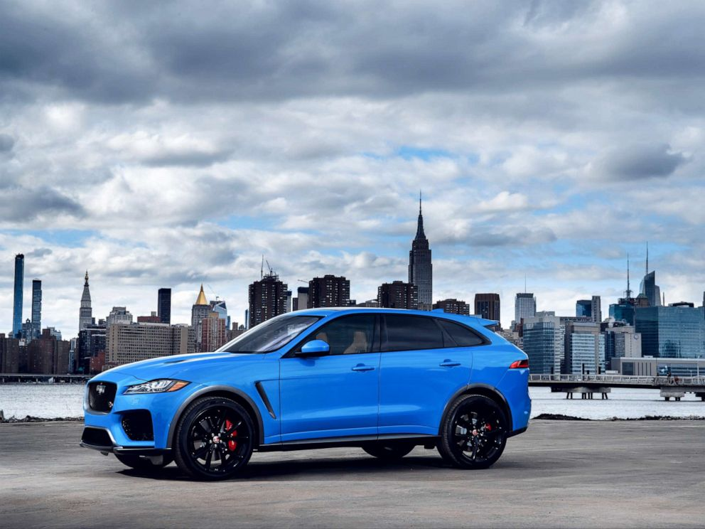 PHOTO: The Jaguar F-PACE SVR boasts a supercharged 5.0-liter V8 engine that has a top speed of 176 mph.