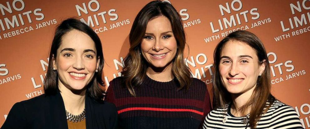 "PHOTO: Hello Alfred co-founders Marcela Sapone and Jessica Beck with ABC News Rebecca Jarvis for ""No Limits with Rebecca Jarvis"""