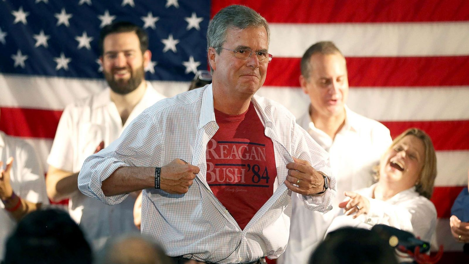 Reagan Mens USA Flag Leisure T-Shirt