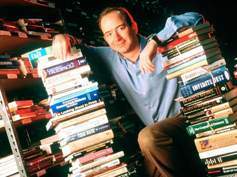 PHOTO: Jeff Bezos, Founder & CEO of Amazon.com is pictured on Jan. 1, 1997, In Seattle.