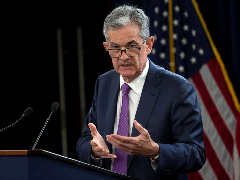 PHOTO: Federal Reserve Chairman Jerome Powell holds a news conference following a two-day Federal Open Market Committee policy meeting in Washington, Sept. 26, 2018.