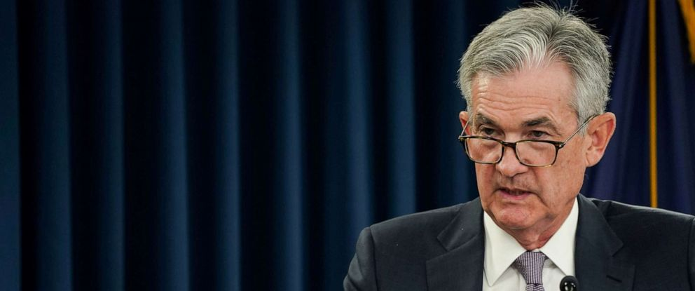 PHOTO: Federal Reserve Chairman Jerome Powell holds a news conference following a closed two-day Federal Open Market Committee meeting in Washington, Sept. 18, 2019.