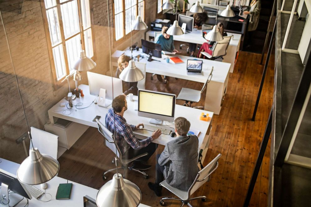 PHOTO: Business people are seen working in a startup office in this undated stock image.