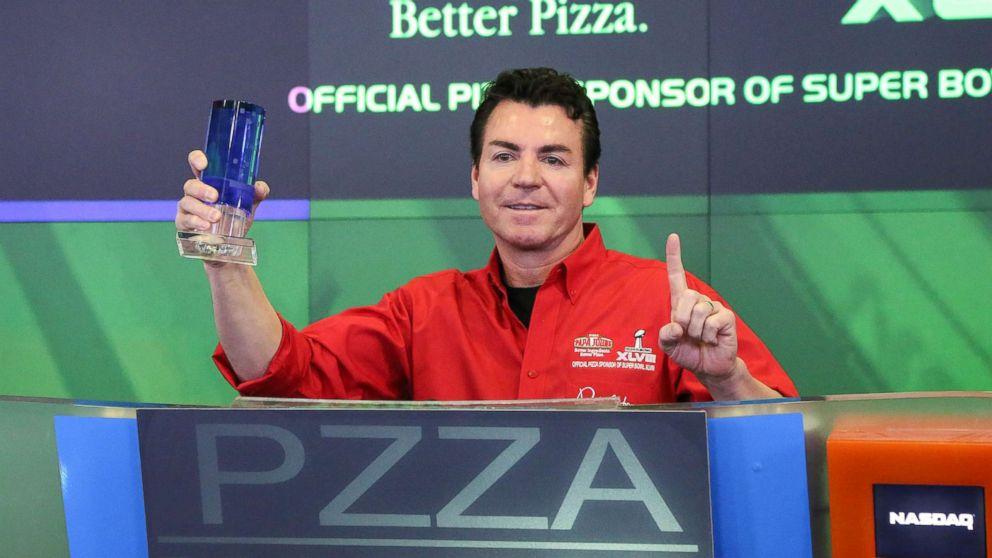In this file photo, John H. Schnatter, Founder, Chairman & CEO of Papa John's International, Inc. rings the NASDAQ Opening Bell at NASDAQ MarketSite, Jan. 31, 2014, in New York City.