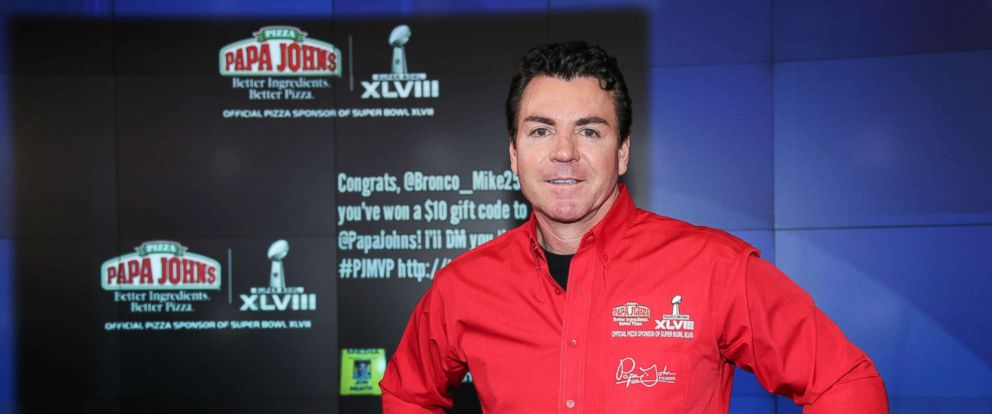 PHOTO: Papa Johns founder John Schnatter resigned from his position as chairman of the pizza chains board late Wednesday.