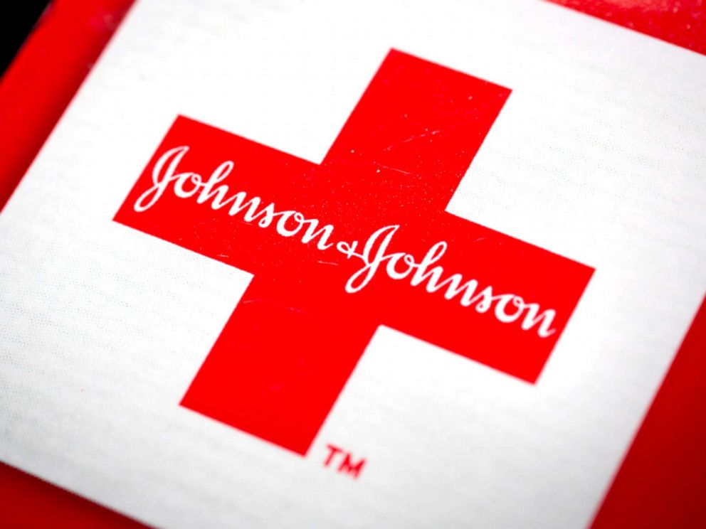 PHOTO: The Johnson & Johnson logo is arranged for a photograph in New York, April 15, 2013.